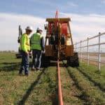 Burying fiber cable