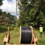 fiber on a spool